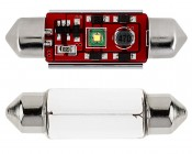 3910 LED CAN Bus Bulb - 1 SMD LED Festoon - 39mm: Front View