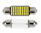 3910 LED CAN Bus Bulb - 30 SMD LED Festoon - 39mm: Front View