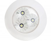 3 Watt Round Dome Light LED Fixture: Front View