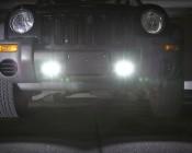 "4"" Dual LED Mini Auxiliary Work Light - 20W on Jeep"