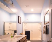 """Retrofit LED Can Lights for 4"""" Fixtures - 90 Watt Equivalent - LED Can Light Conversion Kit - Dimmable - 900 Lumens: Installed in Bathroom Above Shower"""