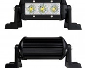 "4"" Compact Off Road LED Light Bar - 9W: Front & Back Views"