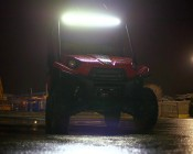 """40"""" Off Road Curved LED Light Bar - 240W: Attached to ATV"""