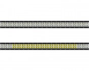 """40"""" Off Road LED Light Bar - 120W: Showing Front View Of Light Bar In Flood Beam Pattern (Top) And Combo Beam Pattern (Bottom)."""