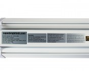 40W LED Shop Light/Garage Light w/ Pull Chain - 4' Long: Close Up of Label