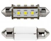 6451 LED Bulb - 12 SMD LED 360 Degree Festoon - 42mm: Front View