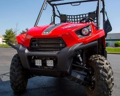 "4.6"" Heavy Duty Off Road LED Light Bar - 18W: Shown Installed On UTV Bumper."