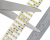 Bright LED Strip Lights - Quad Row LED Tape Light with 137 SMDs/ft. - 1 Chip SMD LED 2835: Strips Are Measured & Cut
