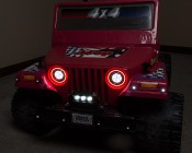 "4"" Compact Off Road LED Light Bar - 9W: Shown Installed On Power Wheels Bumper."