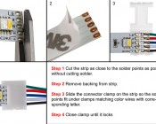 5 Contact 14mm Flexible Light Strip Pigtail Connector for RGBW Strips - NFLS14-5CPTH: How To Connect To Connector