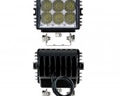 "4.6"" Heavy Duty Off Road LED Light Bar - 18W: Front & Back View"