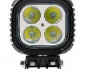 "5"" Square 40W Heavy Duty High Powered LED Work Light: Front View"