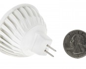 7 Watt MR16 LED Bulb: Back View With Size Comparison