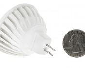 5 Watt MR16 LED Bulb: Back View With Size Comparison