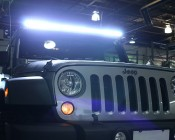 """50"""" Off Road LED Light Bar With Light On"""