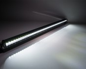 """50"""" Off Road LED Light Bar - 250W: On Showing Beam Pattern"""