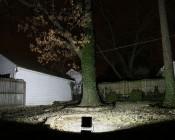 50 Watt High Power LED Flood Light Fixture: 10 Watt High Power LED Flood Light Fixture: Shown Illuminating Backyard (Approx. 30' To Fence).