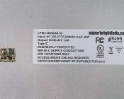 50W LED Panel Light Fixture - 2ft x 2ft - 6,500 Lumens: Label View
