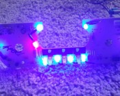 5mm Blue LED (360 degree): Shown Installed On Circuit Board. (Customer Photo).