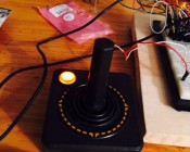 5mm Orange LED: Shown Installed In Atari Controller. (Customer Photo).