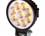 "5"" Round 16W Heavy Duty High Powered Amber LED Work Light"