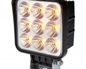 "5"" Square 16W Heavy Duty High Powered Amber LED Work Light"