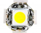 921 LED Bulb - 9 SMD LED Wedge Base Tower: Front View