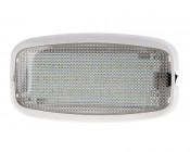 "6"" Rectangular LED Dome Light Fixture With Switch: Front View"