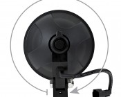 "6"" Round 15W Heavy Duty High Powered LED Work Light: Back View"