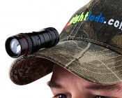 LED Flashlight - NEBO Micro REDLINE OC Optimized Clarity Flashlight: Clips Onto Hats Easily For Task Lighting