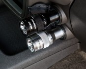 NEBO TRANSPORT - Rechargeable LED Flashlight w/ Built-In Cigarette Lighter Adapter: In Car 12V Cigarette Adapter