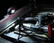 NEBO TWIN PUCKS LED Task Light and LED Safety Flare Combo Used Under Hood Application