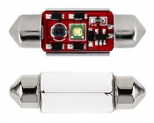 6418 LED CAN Bus Bulb - 1 SMD LED Festoon - 36mm: Front View