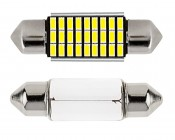 6418 LED CAN Bus Bulb - 27 SMD LED Festoon - 36mm: Front View