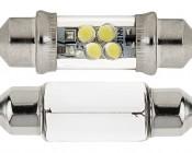 6418 LED Bulb -  4 LED Festoon: Front View
