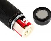 LED Flashlight - NEBO CRYKET - 250 Lumens: Unscrew Magnetic Base to Access Batteries