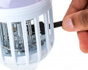 LED Z-Bug Bulb/Porch Light by NEBO: Clean Bugs Off Using Included Brush