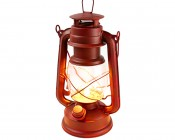 NEBO Old Red LED Lantern w/ Realistic Flicker Flame - 100 Lumens