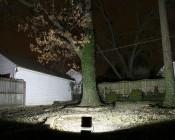 66 Watt High Power LED Flood Light Fixture: 10 Watt High Power LED Flood Light Fixture: Shown Illuminating Backyard (Approx. 30' To Fence).