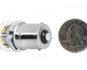 67 LED Bulb - 12 LED Forward Firing Cluster - BA15S Retrofit: Back View with Size Comparison