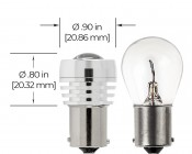 67 LED Boat and RV Light Bulb w/ Focusing Lens - 3 High Power LED - BA15S Retrofit - 190 Lumens: Profile View