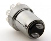 1157 LED Bulb - Dual Function 9 LED Forward Firing Cluster - BAY15D Retrofit