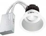 """6"""" Architectural LED Retrofit Downlight with Constant Current Driver: Showing Light And Power Supply."""