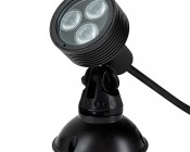 6W Color Changing RGB LED Landscape Spotlight w/ Remote: Shown with Mounting Base (sold separately)