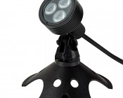 6W Color Changing RGB LED Landscape Spotlight w/ Remote: Shown with Weighted Base (sold separately)