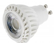 7 Watt GU10 Warm White LED Bulb - Multifaceted Lens with High Power COB LED