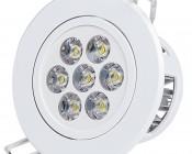 7 Watt LED Recessed Light Fixture - Aimable
