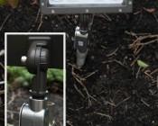 70 Watt Knuckle-Mount LED Flood Light: Shown Installed On Outdoor J-Box.