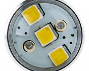 7440 LED Bulb w/ Focusing Lens - 15 SMD LED Tower - Wedge Retrofit: Front View