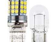 7440 LED Bulb - 45 SMD LED Tower - Wedge Retrofit: Profile View